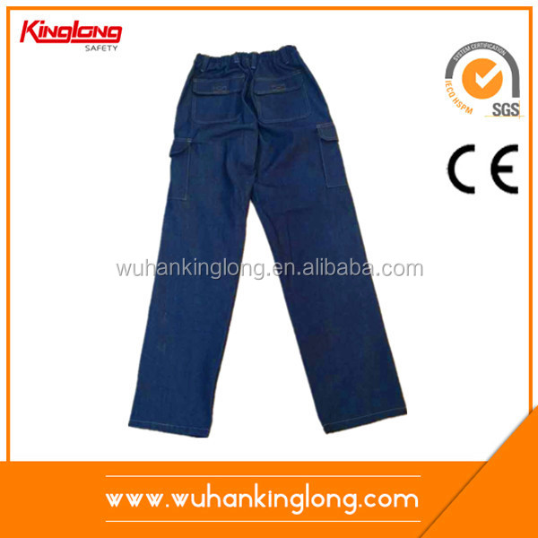 OEM blue pants denim trousers working garments jeans pants