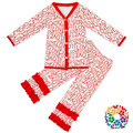 Wholesale Baby Valentine Outfit Long Sleeve Shirts With Ruffle Pants Baby Boutique Clothing Sets