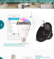 led light wireless bluetooth 4.0 e27 speaker smart led bulb app bluetooth speaker , led speaker light bulb
