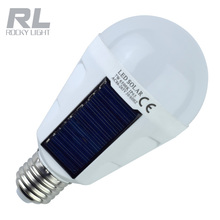 New Designed Solar Panel Bulb 12W LED Powered Light Portable Emergency Light 7w for Indoor and Outdoor Garden Camping bulb