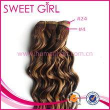 Very high quality color 4 and 24 side by side human hair weave