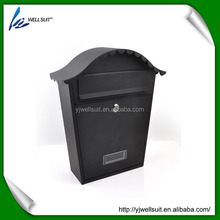 stainless steel or Iron powder coating lockable wall mounted dome mailbox letterbox postbox