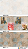 wall flower tiles kitchen and rock wall tiles From China witt best price