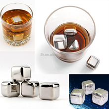 Wholesale Custom Engraved Stainless Steel Whiskey Stone, Ice Cube Rock Set of 4 LFK-IC01