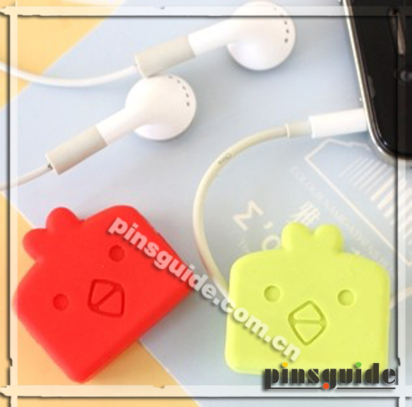 Shenzhen Supplier Promotional Gift Novelty Cartoon Earphone Cable Organizer