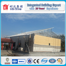 hot sale prefabricated wooden house and villa with light steel frame metal structure