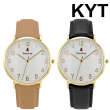 KYT Premium My Name Logo Custom Printed Japan Movement Golden Elegance Brand Watch