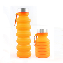 550ml novelty silicone collapsible sport drink bottle bpa free