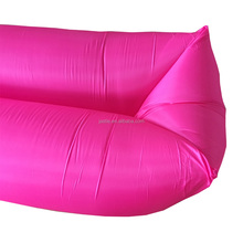 2017 Factory Direct Sale Outdoor Portable banana shape air Inflatable Sleeping Bag air sofa bean bag