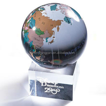 Earth globe glass crystal balls