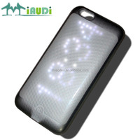 Universal phone case , mobile phone back cover,smart LED light up case for iphone 6