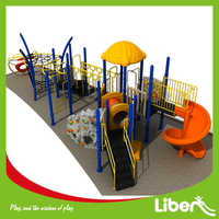 Liben Manufacturer Used Commercial Plastic Big Park Kids Outdoor Residential Playground Equipment