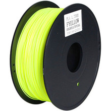 High quality PLA filament 3mm 1.75mm Yellow 3D printer filament for 3d printing
