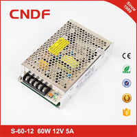CNDF hot sale aluminum material applied to electronic advertising 60w 12v 5a ac-dc power supply smps