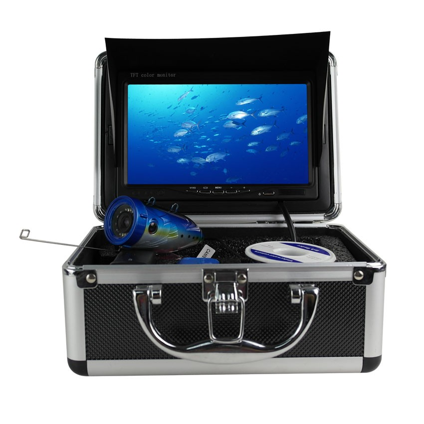 "30m 7"" LCD HD Underwater Video Camera System Fish Finder with 4G SD DVR and Photo"