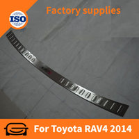 New Product Car Accessories Stainless Steel Rear Bumper Footplate for Toyota RAV4 2013 +
