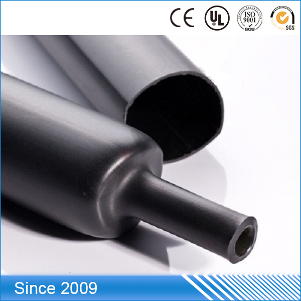 High quality hot melt adhesive Waterproof medium wall fiber optic fusion heat shrink tube