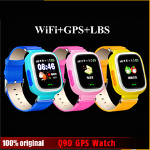 2G Network Wifi Anti-lost Q90 Kids GPS Smart Watch with SOS