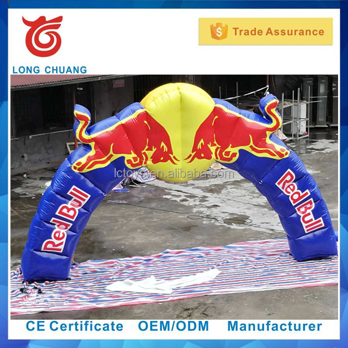 Best quality red bull inflatable arch for advertising, event inflatable red bull arch