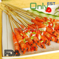 Factory price food processing disposable round bbq wholesales bulk bamboo skewer