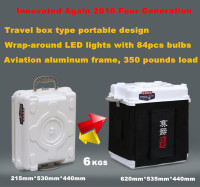 Travel box portable design and wrap-around LED strip light photo box