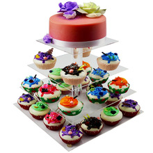 2 3 4 5 6 7 Tier Acrylic Bling Cake Stand Cinderella Carriage Wedding Cake Stand