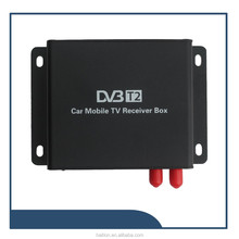 Tailand dvb t2 set top box Car DVB-T2 2 tuner 2 antenna Digital TV receiver Siano chipset high speed