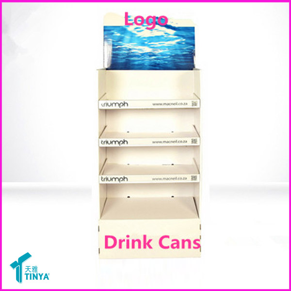PP Corrugated Plastic Floor Standing Acrylic Display for Cup Cake Stand, Cupcake Stand