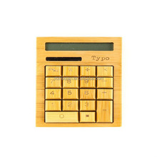 Eco-friendly Finely Handcrafted 12 Digits Solar Powered Nature Bamboo Wood Calculator
