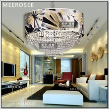 Rounded Crystal Hanging Lamp,Ornate Crystal Pendant Light With Lampshade For Indoor Decoration MD88088