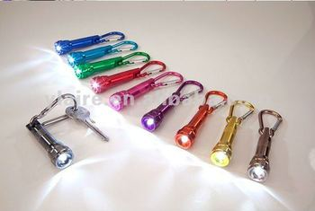 led torch with carabiner keychain