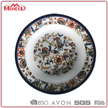 "Daily household middle east style 10 1/2"" melamine plate for soup serving"