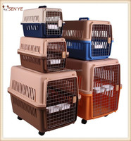 Portable plastic pet cage, pet airline carrier, dog flight case