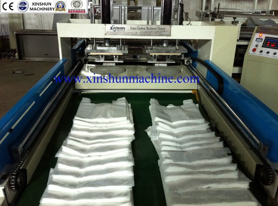 AUTOMATIC plastic bag making machine,flat bag making machine,hdpe bag making machine