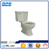 two piece one flush siphon bathroom toilet