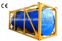 Bitumen carbon steel insulated tank container with full ISO frame design
