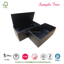 Factory Price Plain Black Gift Paper Box