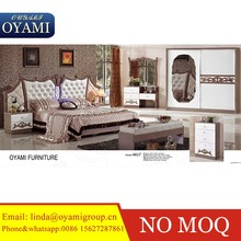 modern king size bed bedroom sets with MDF high glossy