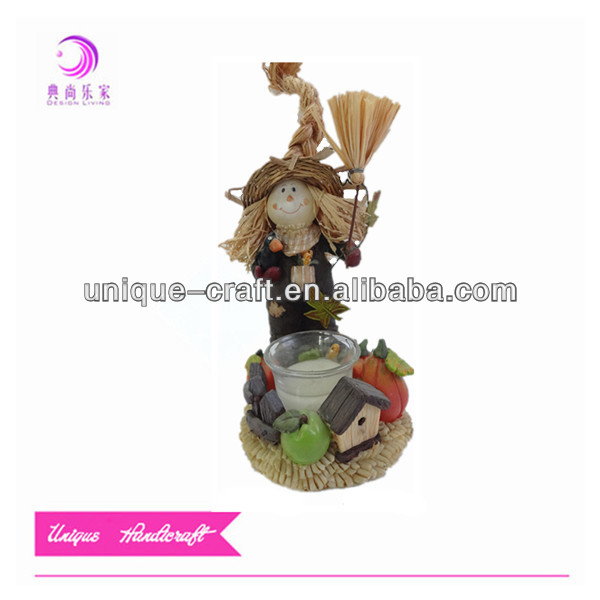 Autumn decoration scarecrow resin model kit figures