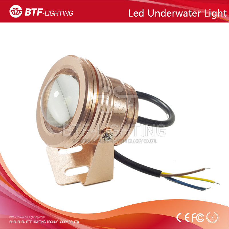 10W 12V Convex <strong>Glass</strong> underwater light RGB Color Waterproof led Floodlight outdoor Swimming Pool Light