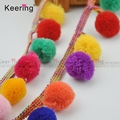 Using for home textiles and bed linen wholesale pom pom lace trim