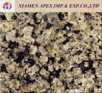Tropical yellow granite with black vein