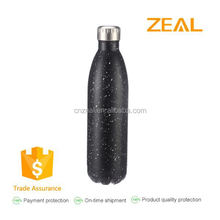 Zeal double wall stainless steel vacuum sealed water bottle