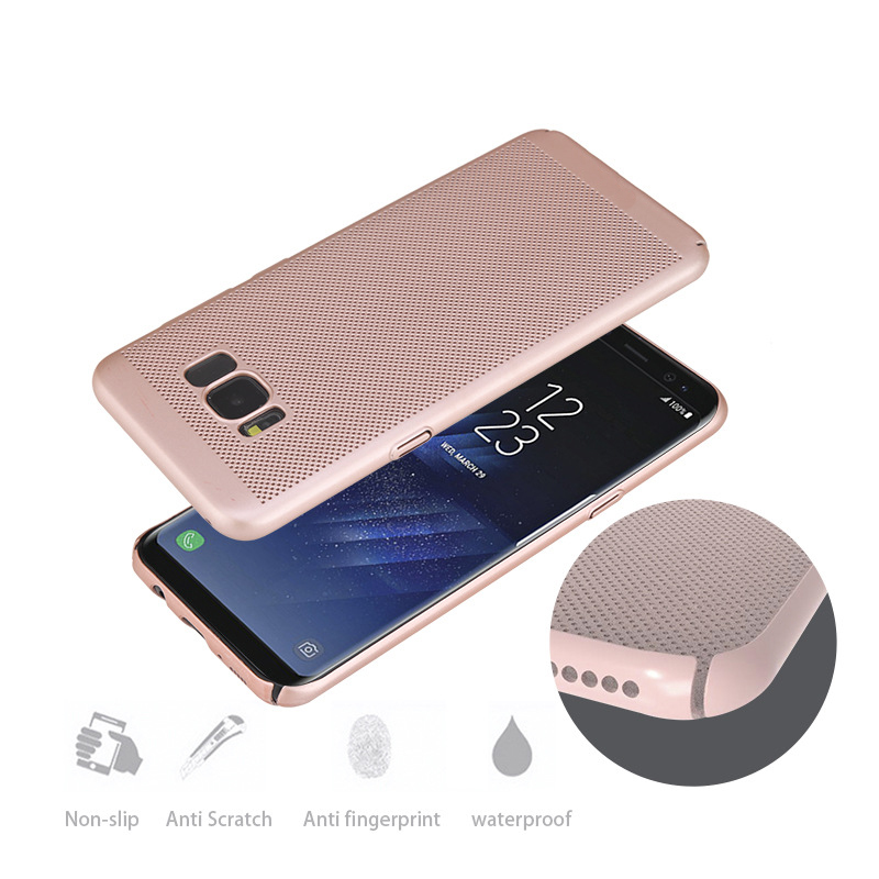 Radiation plastic cellphone case for samsung galaxy s8 matte hard case back cover