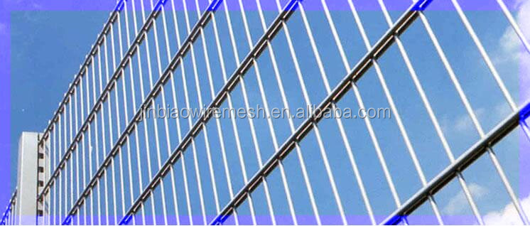 welded sheep pvc coated anping double wire fence, twin wire fence