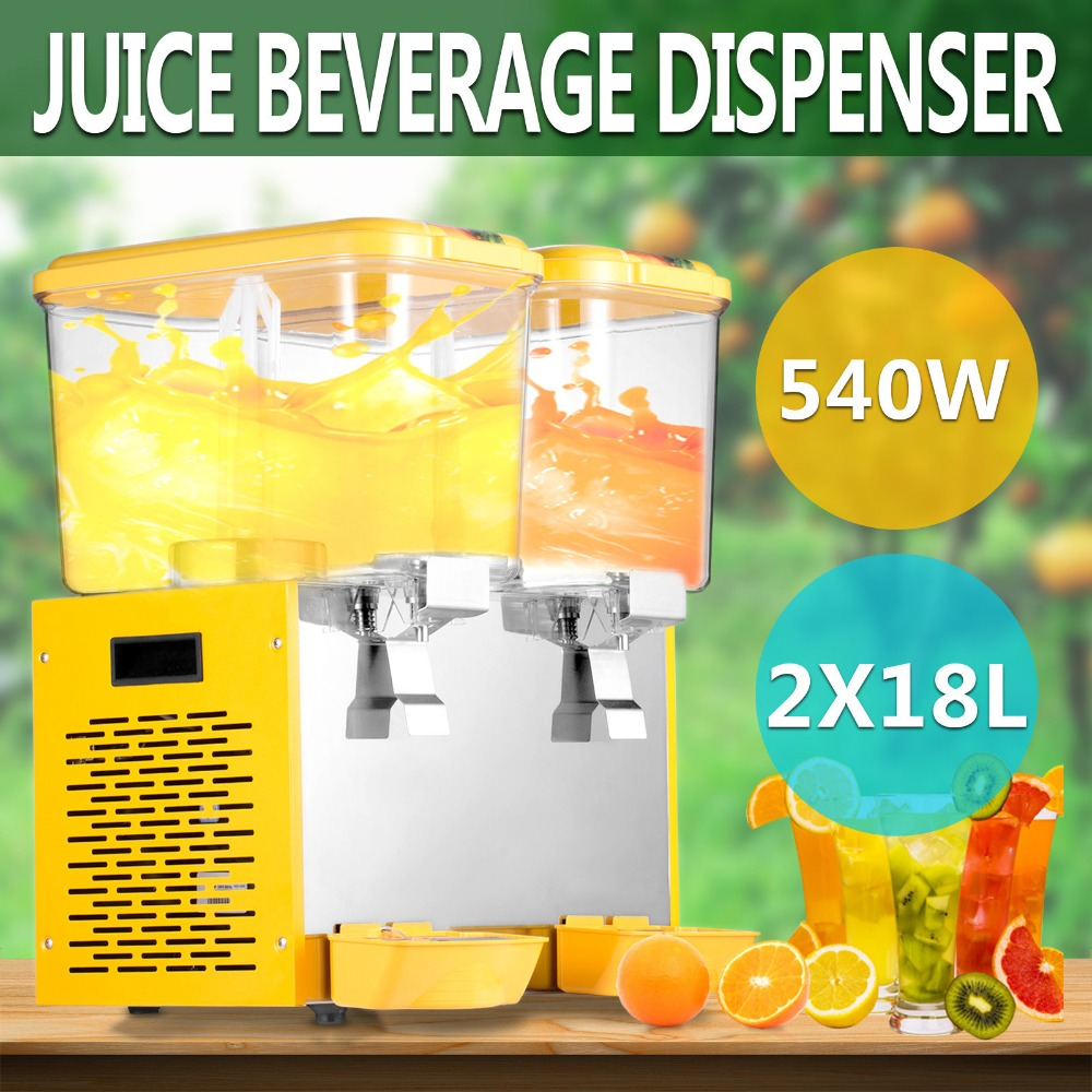 9 5 GALLON JUICE BEVERAGE DISPENSER AGITATORS COLD DRINK STAINLESS STEEL