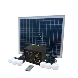 Multi-function solar LED lighting system Solar charger with FM radio