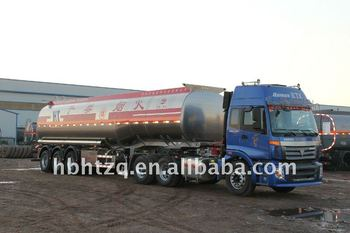 Aluminium alloy or carbon steel fuel tanker semi trailer supported by diesel oil