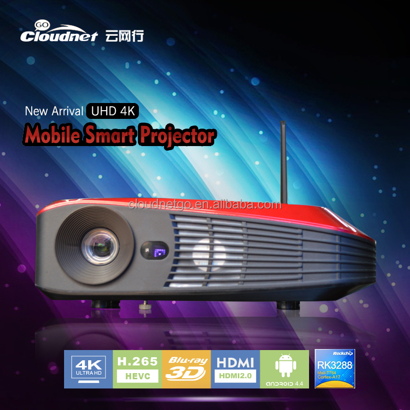 3d projector RK3288 high chip smartphone projector support blu ray android 4.4 hot selling Quad Core Up projector 4k