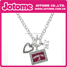 Fashion Licensed Silver Alabama Crimson Tide My Team Pendant Necklace